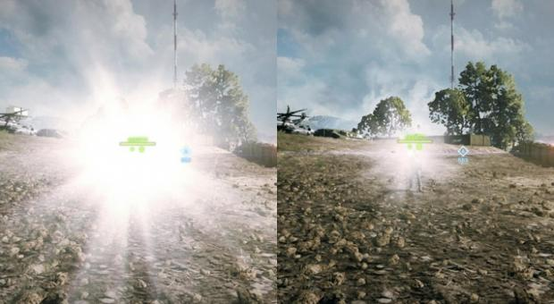 Tactical light before and after patch