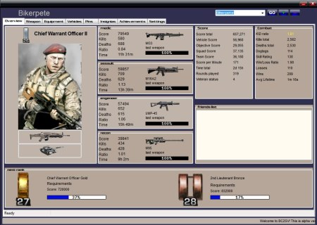 Preview for BFBC2 stats viewer